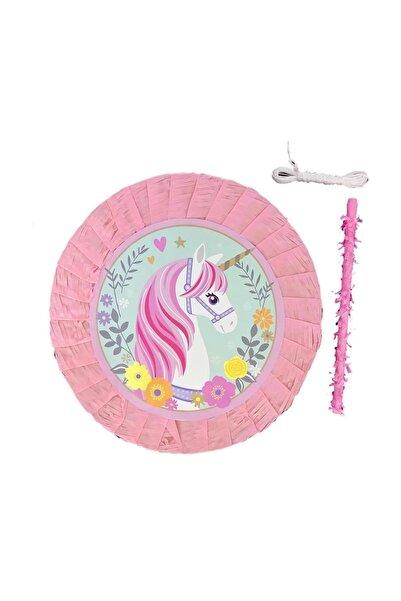 Parti dolabı Unicorn Temalı Pembe Pinyata, Tek Boynuzlu At Doğum Günü Konsepti