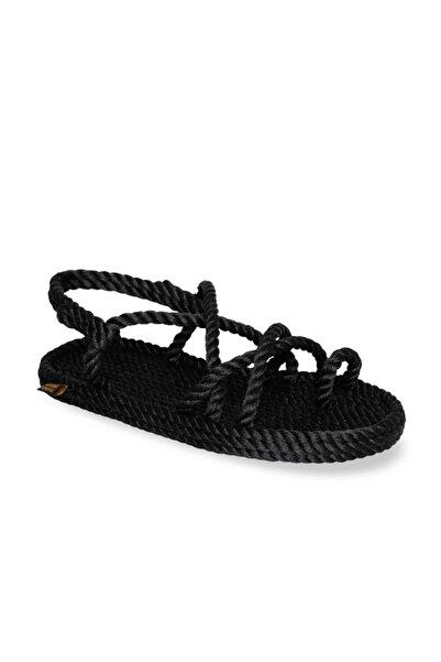 Nomadic Republic Ibiza Kadın Halat Sandalet - Siyah