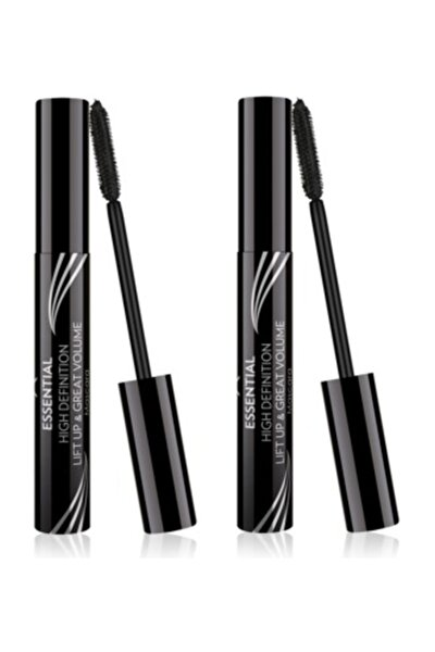Golden Rose Hacim Etkili Siyah Maskara - Essential High Definition&liftup&great Volume Mascara X 2 Adet