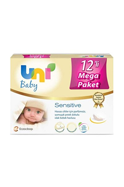 Uni Baby Sensitive Islak Havlu 12'li Fırsat Paketi
