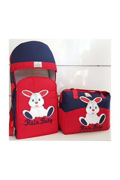bebegen 2'li Tavşan Taşıma Çanta Seti Lacivert Kırmızı