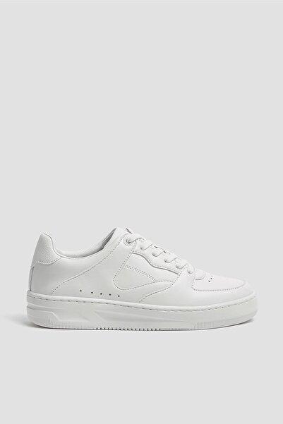 Pull & Bear Kadın Beyaz Tek Renk Spor Ayakkabı 11307540