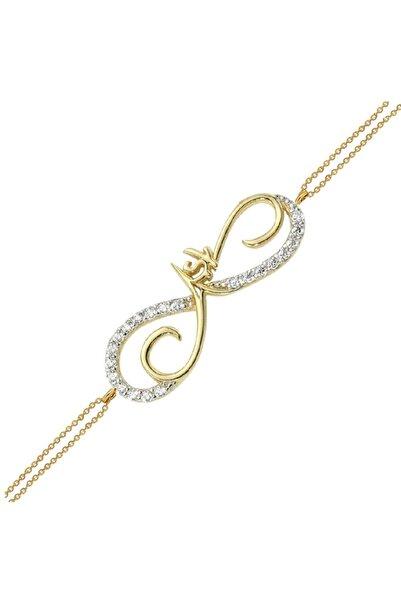 Altın Sepeti Aşk Yazılı Sonsuzluk Altın Bileklik