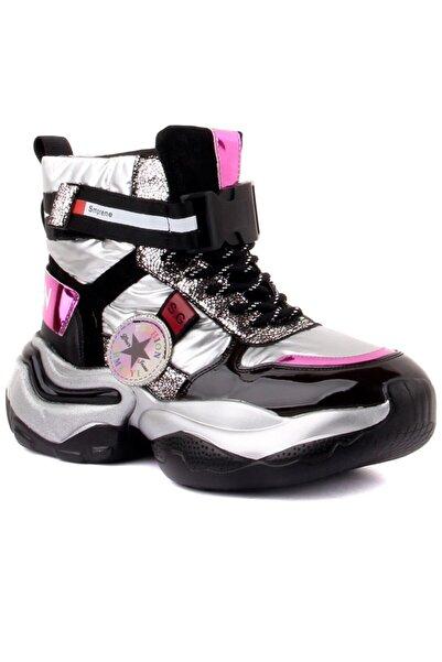 Guja Kadın Gümüş Bağcıklı Ayakkabı 20k340-9