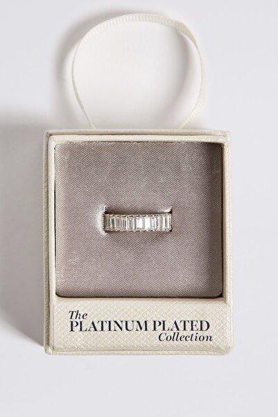 Marks & Spencer Kadın Metalik Platinum Rengi Taşlı Yüzük T06007114M