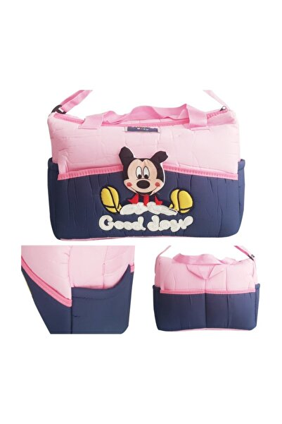 bebegen Sevimli Mickey Bebek Çantası Pembe