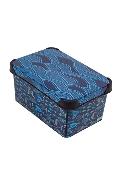 QUTU Style Box Ocean Life - 5 Litre Dekoratif Saklama Kutusu