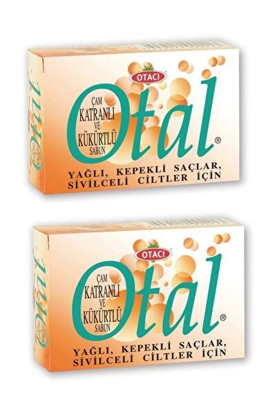Otacı Otal Çam Katranlı Ve Kükürtlü Sabun 80 gr 2 Adet-yağlı Kepekli Saçlar Ve Sivilceli Ciltler Için