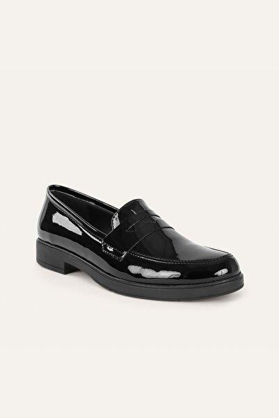 Mudo Kadın Siyah Loafer Ayakkabı 373670