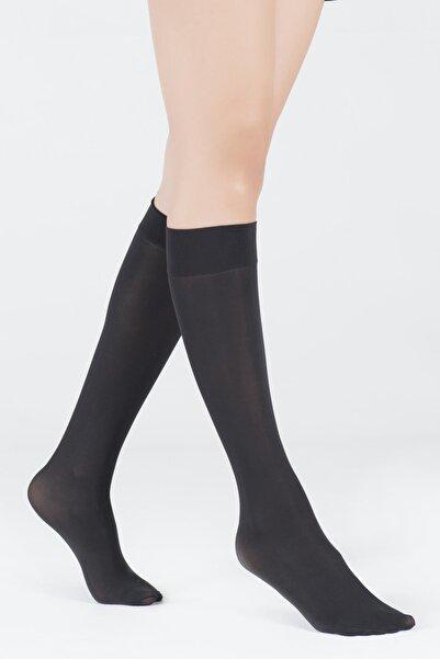 Katia&Bony Kadın Siyah Dizaltı Opak 40 Denye Basic Çorap