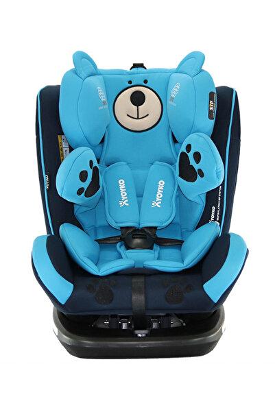 YOYKO Bear Dönebilir Yatabilir 0-36 Kg Oto Koltuğu Mavi /