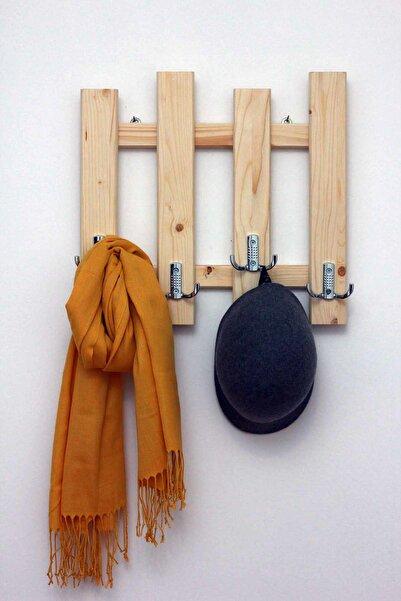 Ceebebek Ahşap Duvar Kıyafet Askısı Antre Askılık Ofis Vestiyer Naturel Askı CEENVA4040999