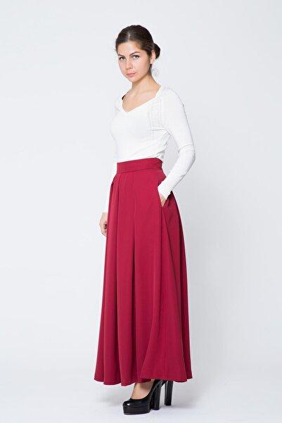 GIZIA CASUAL Kadın Kırmızı Uzun Etek M17KCZ0401E84
