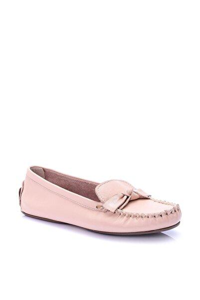 Derimod Hakiki Deri Pudra Kadın Loafer Ayakkabı
