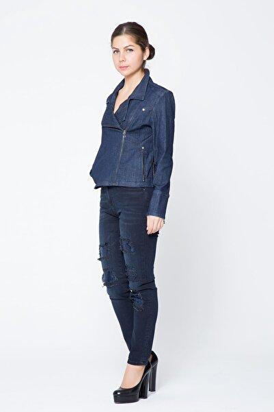 GIZIA CASUAL Kadın Pul Payet İşlemeli Jean Pantolon M17KAZ5101XUH