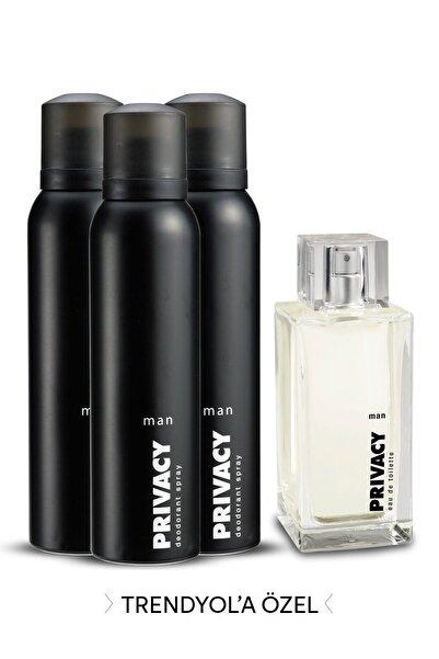 Privacy Edt Erkek Parfümü 100 ml + 3'Lü Deodorant 150 ml 507637-2
