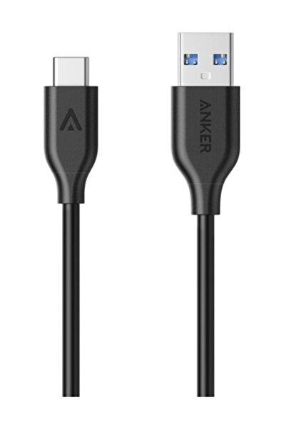 Anker PowerLine USB-C / Type-C Şarj/Data Kablosu 0.9 Metre Siyah - A8163H11-OFP