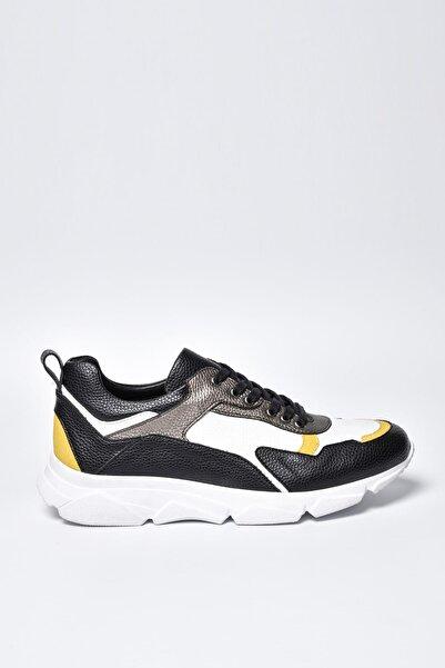 Jeep Siyah Beyaz Erkek Spor Ayakkabı 9Y1SAJ0033