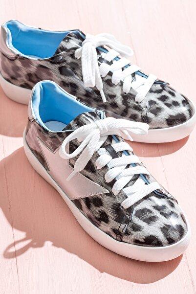 Elle Shoes LAVONNE Siyah Leopar Kadın Ayakkabı