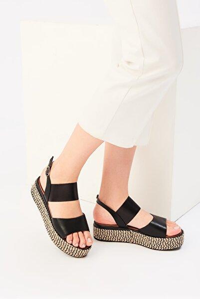 İnci Siyah Kadın Sandalet 120130005466
