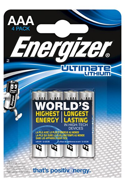 Energizer Ultimate Lithium AAA 4 lü Pil