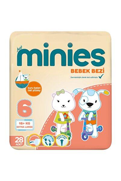 Minies Bebek Bezi 6 Beden Extra Large 28 Adet