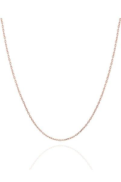 İzla Design Kadın Hayalet Modeli 45 CM Gümüş Rose Kaplama Zincir İZLASLVR00595
