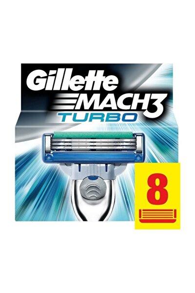 Gillette Mach 3 Turbo  Yedek Tıraş Bıçağı 8'Li