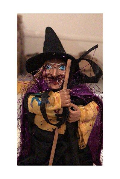Halloween Cadılar Bayramı Şaka Malzemesi Cadı Figürü Party Süsü Biblo - 20 Cm - O2 /