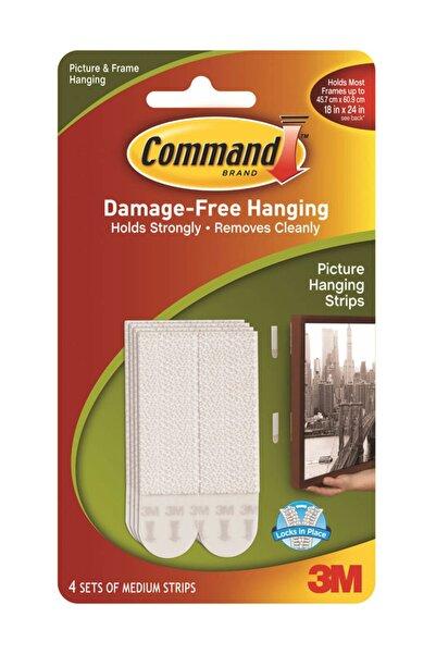 3M Command Brand 17201-4pk Orta Boy Cırt Cırt Çerçeve Asma Bandı (5,2 Kg/paket)