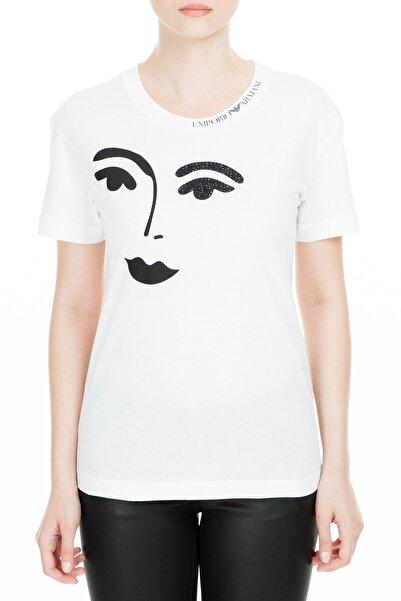 Emporio Armani Beyaz Kadın T-Shirt S 3G2T63 2J29Z 0100