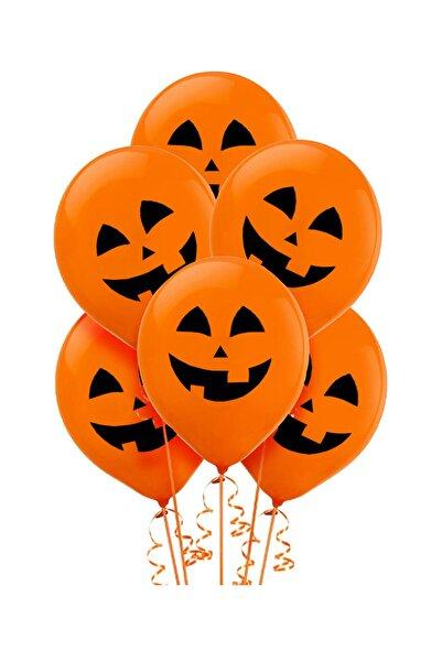 Kullan At Market Cadılar Bayramı Balkabağı Baskılı Turuncu Balon 10Lu