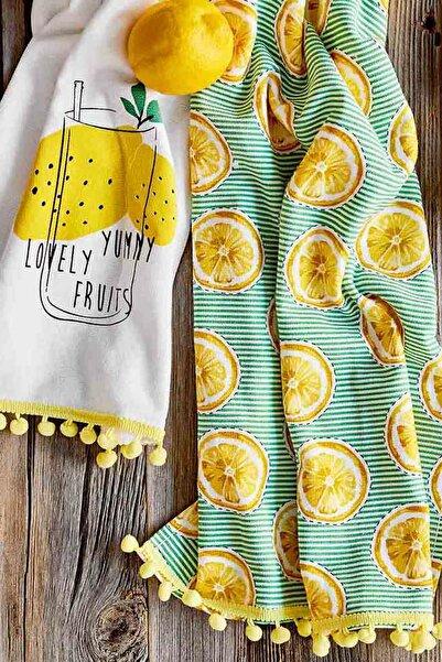 Bella Maison %100 Pamuk Lemon 2'li Mutfak Havlusu