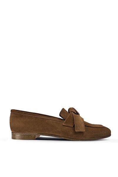 Deery Taba Kadın Loafer Ayakkabı 01744ZTBAM01
