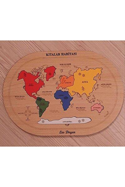 les doyen Ahşap Kıtalar Haritası Montessorie Bul - Tak Puzzle