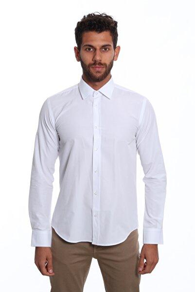 Diandor Uzun Kollu Erkek Gömlek Beyaz/White 1922034