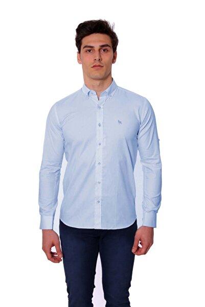 Diandor Uzun Kollu Kolu Katlanabilir Erkek Gömlek A.Mavi/L.Blue 1812077