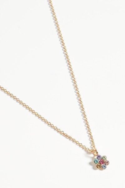 Lapidore Kadın Bellis Multicolor Taşlı Rose Gold Kolye LKR1070