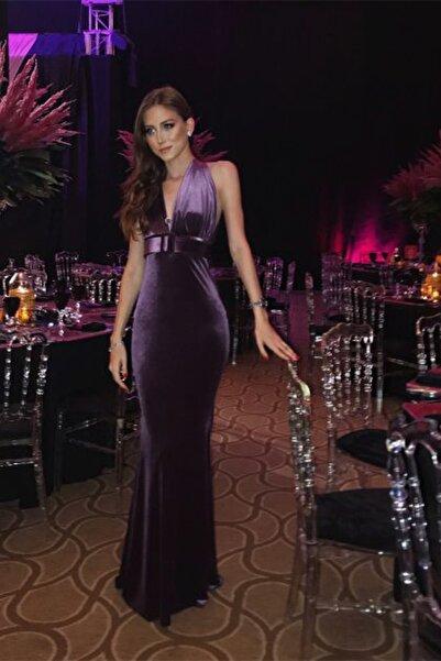 Nunu's Closet by Nur Karaata Kadın Night Fever Purple  Elbise NUNUS1