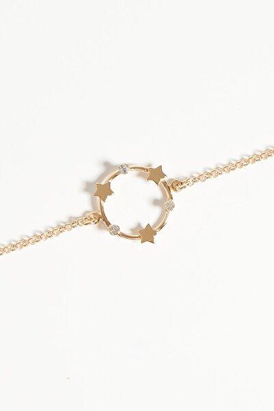 Lapidore Kadın Andromeda Crystal Taşlı Rose Gold Bileklik LBB1021