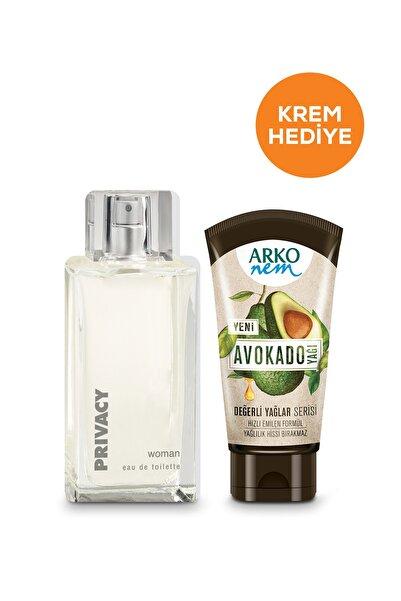 Privacy Women Edt Parfüm 100 ml & Arko Nem Değerli Yağlar Avokado 60 ml Hediye