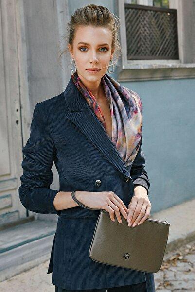 Aker Kadın Indıgo Kadife İndigo Blazer Ceket U51659635