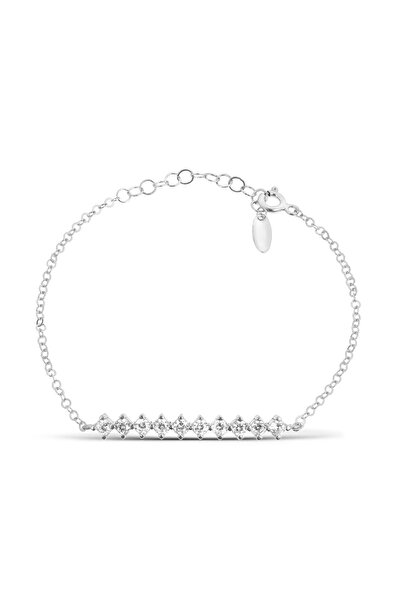 Coquet Accessories Rodyum Taşlı Gümüş Bileklik 19G9U08N642