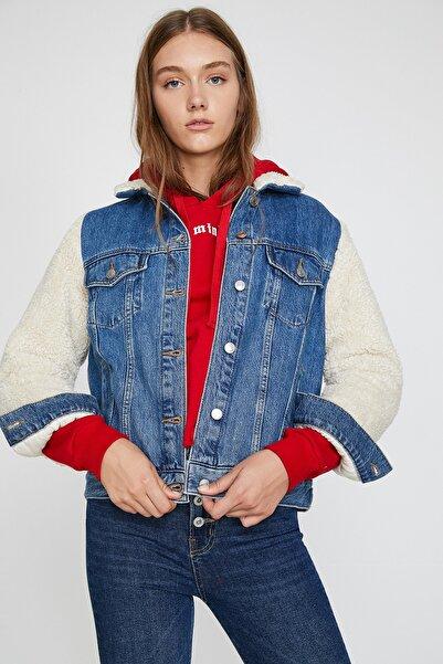 Koton Kadın Mid Indigo Ceket