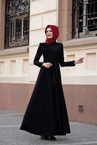 Lavienza Kuşaklı Tesettür Elbise