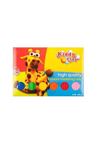 Bigpoint Kiddy Clay Tabaka Model Hamur 6 Renk 100 Gram 12'li Kutu
