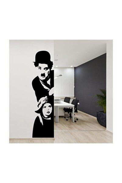 Sticker Sepetim Charlie Chaplin Siyah 2 Dekoratif Çok Amaçlı Duvar Sticker