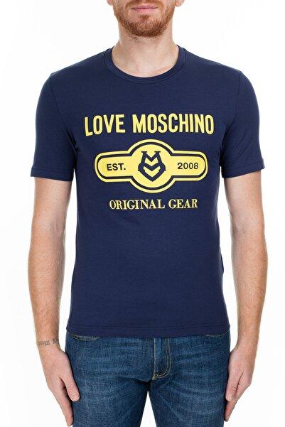 Love Moschino Erkek Lacivert T-Shirt S M47312Ie1811 Y61