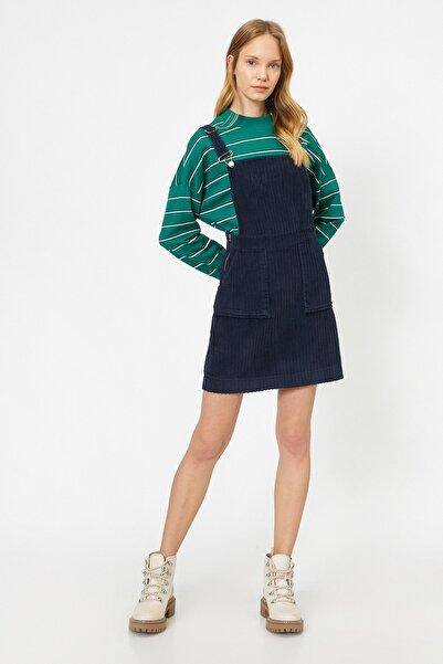 Koton Kadın Lacivert Elbise
