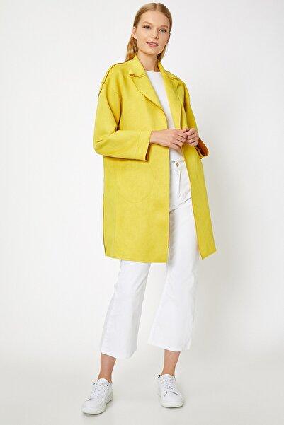 Koton Kadın Sarı Cep Detaylı Trençkot 0KAK06561EW